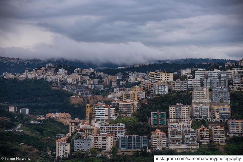 Clouds on  hazmieh...through my lens this  view of  hazmieh  baabda ...